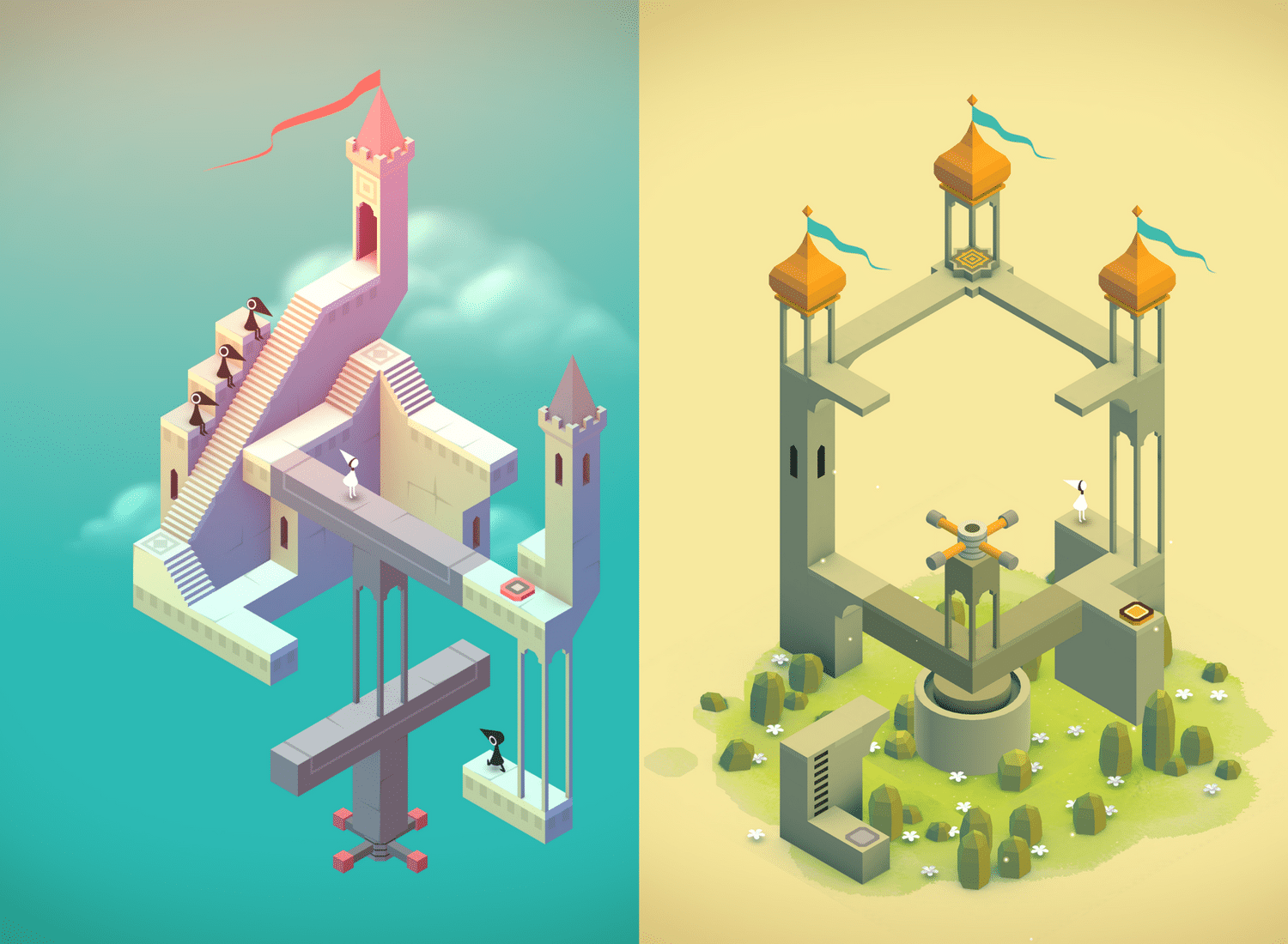 Les géométries impossibles et colorées de Monument Valley